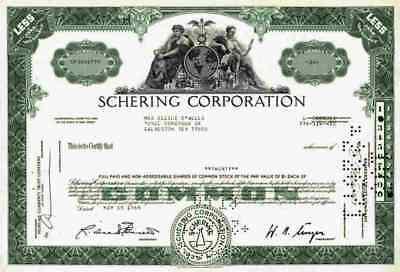 Schering Corporation 1969 Kenilworth New Jersey MSD Merck Essex Pharma 20 shares