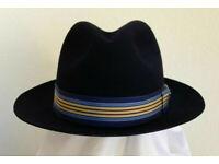 BILTMORE GENUINE MILAN LAVENDER STINGY BRIM DRESS HAT