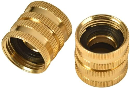 """2 Pack 3/4"""" Garden Hose Connector Dual Swivel for Male to Male, Double Female"""