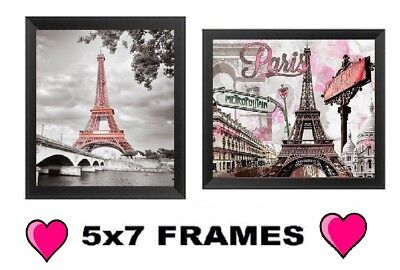 💗 Paris Pictures France Eiffel Tower Pink 5x7 France Wall Hangings Home (Pink Eiffel Tower)