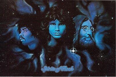 SPIRITS OF ROCK ~ 24x36 MUSIC POSTER ~ John Lennon Jim Morrison Jimi Hendrix