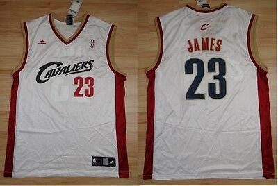 NBA Trikot Jersey Basketball CLEVELAND CAVALIERS CAVS Lebron James 23 white ()