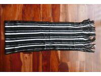 Kangaroo Poo Acrylic Scarf - Black & White Stripe