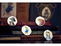 THE ROYAL MINT LIMITED EDITION 2017 BEATRIX POTTER SILVER PROOF 50p FULL COIN SET - ALL IN HAND