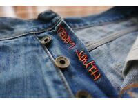 """30"""" Teddy Smith 90s Jeans - Blue Denim"""