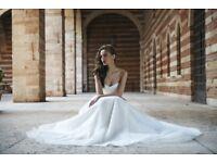 Unique Stephanie Allin Emilia destination wedding dress