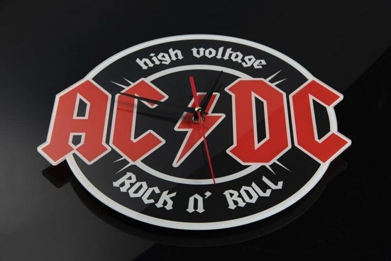 AC/DC Wall Clock High Voltage
