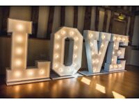 I am looking for someone that can make 4ft love letters for Weddings
