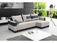 Brand New BARI Corner Sofa Bed Universal Corner Side Storage Sleeping function Grey
