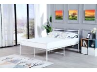 Metal Bed Frame Solid with Headboard and Footboard In All Sizes Modern Design Brand new Mattress