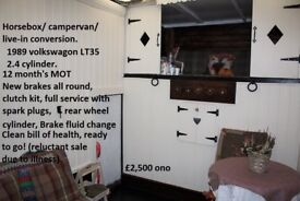 Horsebox conversion/camper/live-in or easily convert back to horsebox 11 MONTH'S MOT