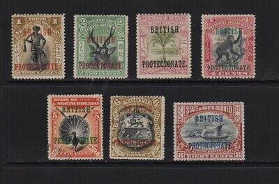 North Borneo - #105-111 mint, cat. $ 27.70
