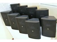 Lot 9 Toa Electronics F-2000BT 2-Way Wide Dispersion Box Speakers, MAY SPLIT