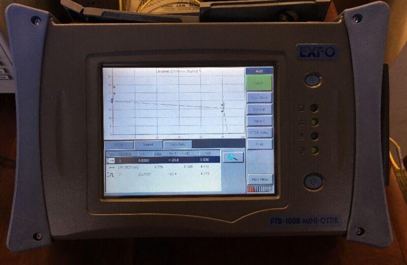 EXFO FTB-100B Mini OTDR Mainframe & FTB-7300D SM OTDR