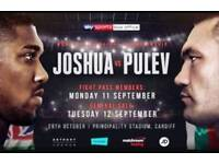 Anthony Joshua V Kubrat Pulev Tickets **Great Seats**