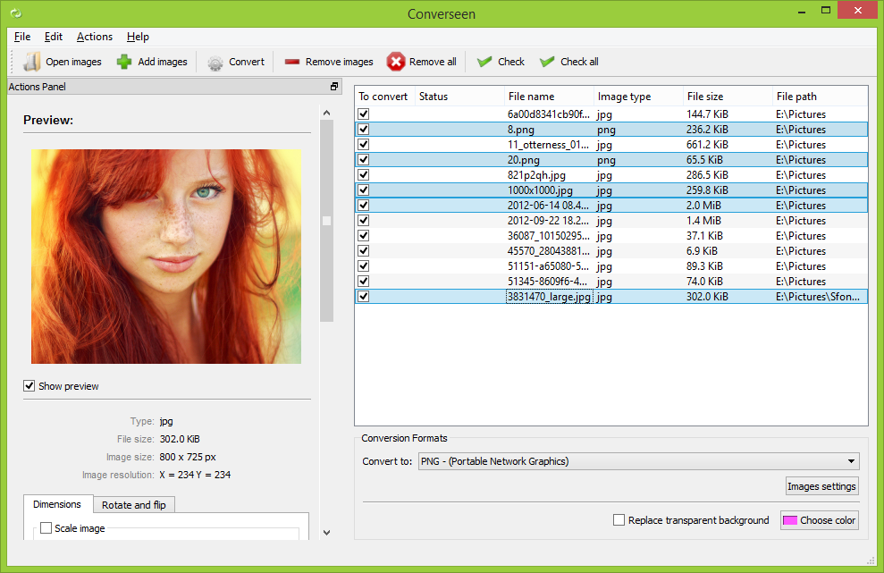 Converseen (Batch Image Converter and Resizer Software) Windows USB