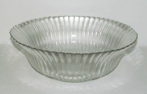 Macbeth Evans Glass PETALWARE Crystal Large Round Vegetable Bowl
