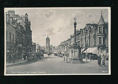 Scotland Peeblesshire PEEBLES The Cross High St 1929 PPC