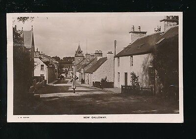 Scotland Kirkcudbrightshire NEW GALLOWAY used 1911 RP PPC mailed from fine pmk