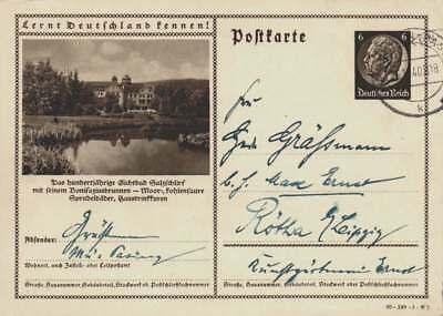 D.Reich Ganzsache P 236 SALZSCHLIRF gelaufen MÜNCHEN 26.1.40 (43554)