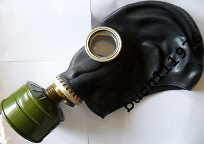 USSR RUSSIAN RUBBER SOVIET GAS MASK MILITARY GP-5 Black Helloween size's 1,2,3,4