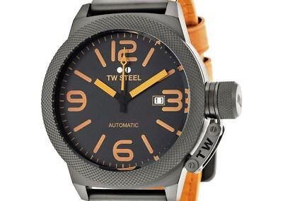 NON-WORKING $625 TW Steel Mens Automatic Canteen Date Dress Watch CS45 PRE-OWNED