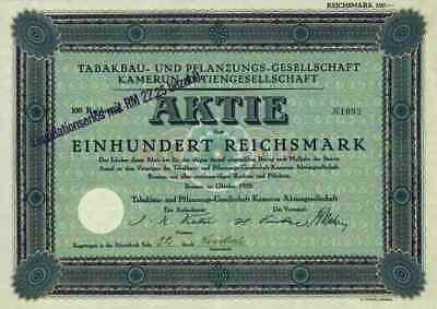 Tabakbau Pflanzungs Ges. Kamerun AG 1929 Bremen Kumassi Goldküste Ashanti Vietor