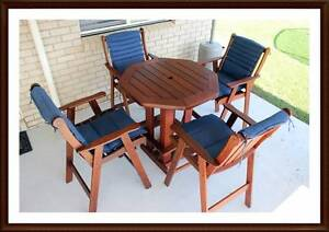 FOR SALE - Quality Australian made 5 piece Kwila high table set. Brisbane City Brisbane North West Preview
