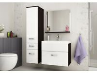 """Glossy"" Beautiful Bathroom SET!! Cabinets Vanity Units Mirrors!!free Delivery!!cash On Delivery!!"