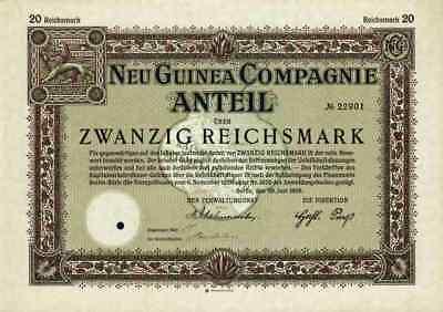 Neu Guinea Compagnie 1926 Venezuela Westafrika Hamburg 20 RM Kolonial Plantagen
