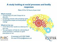 Earn £15 for research participation!