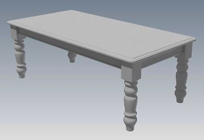 SOLID TIMBER DINING TABLE - Make Your Own & SAVE HEAPS $$$ (Full Plans 2D & 3D) ()