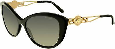 Versace Sunglasses VE4295 GB1/T3 57mm Black-Gold / Polarized Grey Gradient Lens