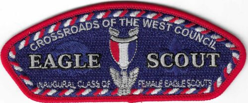 BSA CSP CROSSROADS OF THE WEST COUNCIL 2021 FEMALE EAGLE SCOUT NEW ISSUE S-10