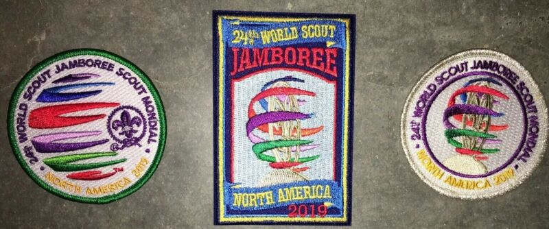 Boy Scout 2019 World Jamboree WSJ Lot of 3 patches Mint BSA2