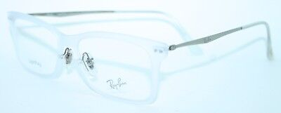 RAY-BAN RB7039 5452 53/18 New CLEAR CRYSTAL Authentic MEN EYEGLASSES w/ CASE