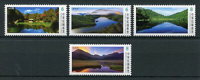 Taiwan China 2018 MNH Alpine Lakes 4v Set Tourism Landscapes Mountains Stamps