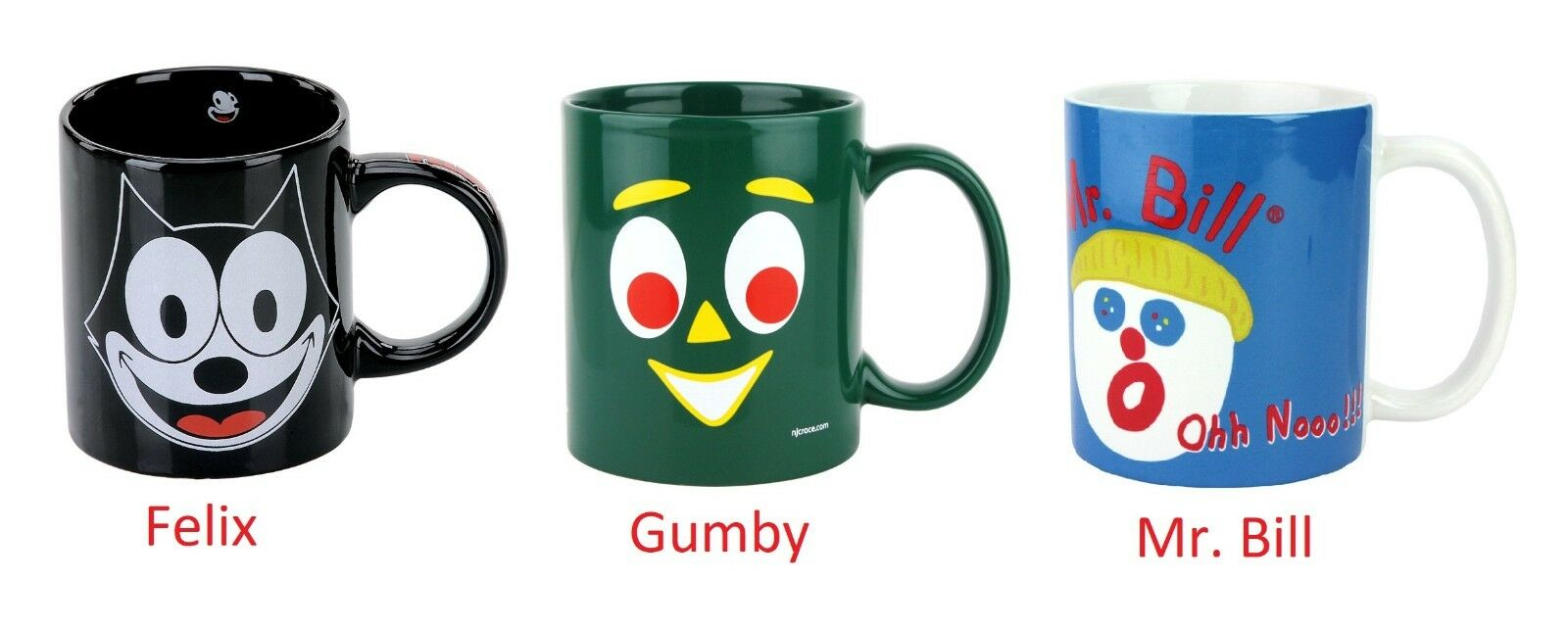 ceramic cup coffee mug felix gumby mr bill