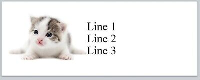 Personalized Address Labels Cute Little Kitten Cat Buy 3 Get 1 Free Jx 381