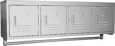 Gsw 4 Tiersdoors Premium Steel Wall Mount Employee Storage Locker Els-4dr