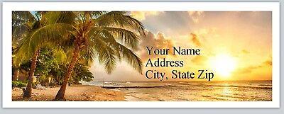 30 Return Address Labels Scenic Beach Sunset Buy3 get1 free (p 252)