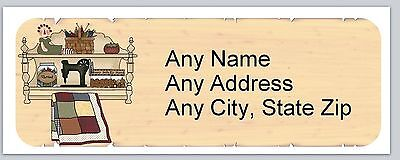 30 Personalized Address Labels Primitive Country Buy 3 Get 1 Free Ac 639