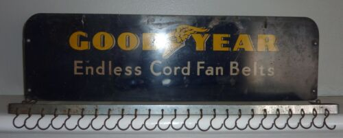 Vintage Tin GOODYEAR Fan Belt Service Rack