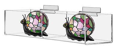 Slatwall Prganizer Bin 2 Compartment Storage Container Box Acrylic 16 X 2
