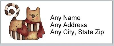 Personalized Address Labels Primitive Country Cat Buy 3 Get 1 Free Ac 640