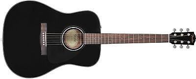 Fender CD-60 V3 Dreadnought Acoustic Guitar, Black, Walnut (NEW)