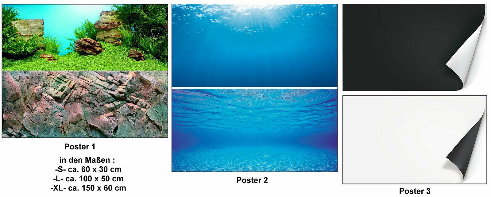 Juwel Aquariumrückwand Poster 1 / 2 / 3 verschiedene Motive und Größen