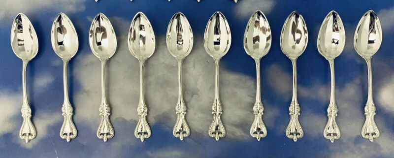 """1O PC SET OLD COLONIAL BY TOWLE STERLING SILVER TEA SPOON 6"""" HIGH GRADE"""