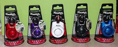 Master Lock 1500id Speed Dial Directional Combination Lock You Choose Color