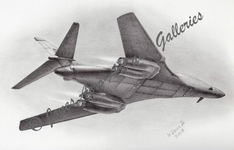 "B-1B Lancer ""Bad to the BONE"" Giclee & Iris Art Prints by Willie Jones Jr."